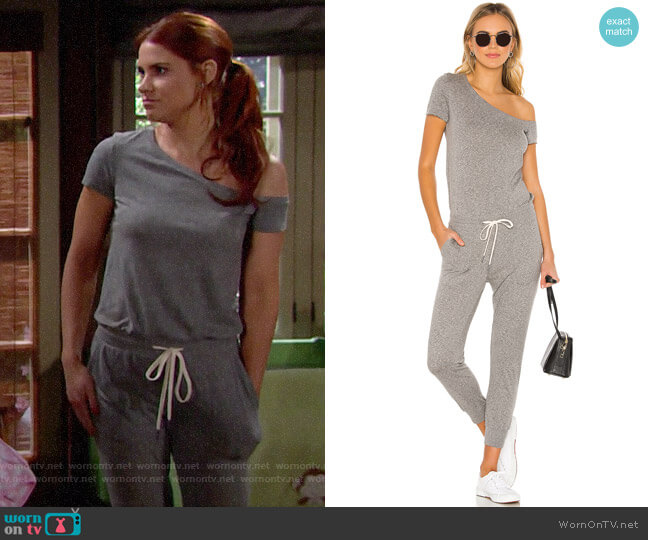 n:Philanthropy Britton Jumpsuit worn by Sally Spectra (Courtney Hope) on The Bold & the Beautiful