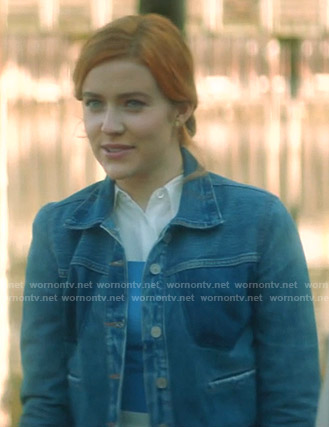 Nancy's denim jacket on Nancy Drew