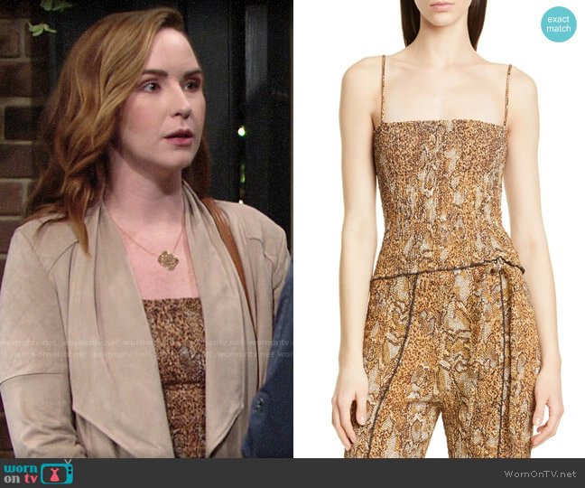Nanushka Matea Top worn by Mariah Copeland (Camryn Grimes) on The Young & the Restless