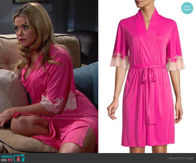 Natori Enchant Lace Trim Wrap worn by Shauna Fulton (Denise Richards) on The Bold & the Beautiful