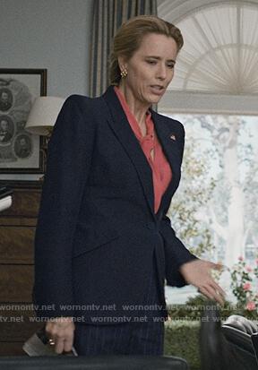 Elizabeth navy blazer on Madam Secretary