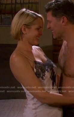 Nicole's lace trim chemise on Days of our Lives