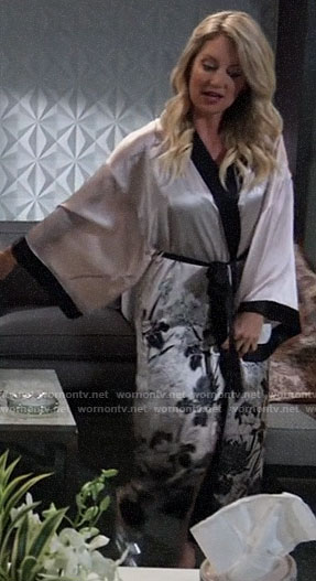 Nina's floral pre-wedding robe on General Hospital