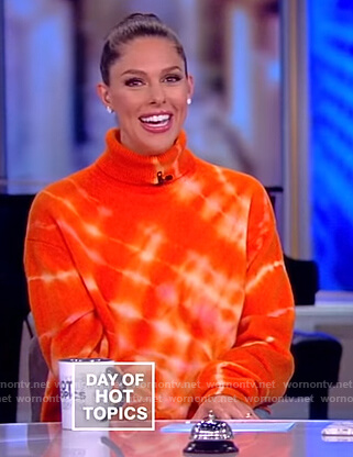 Abby's orange tie dye sweater on The View