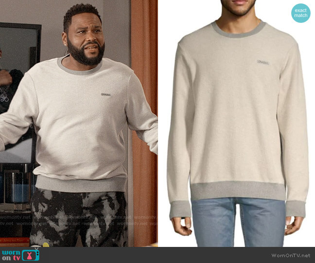 Ovadia & Sons Textured Cotton Sweatshirt worn by Andre Johnson (Anthony Anderson) on Blackish