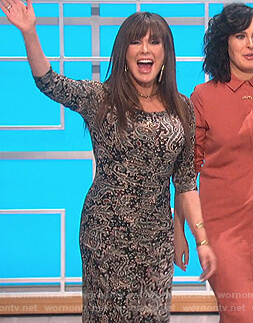 Marie's paisley ruched dress on The Talk