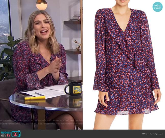 Skylar Ruffled Shift Dress by Parker worn by Carissa Loethen Culiner  on E! News