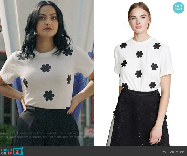 Paskal Floral T-shirt worn by Veronica Lodge (Camila Mendes) on Riverdale