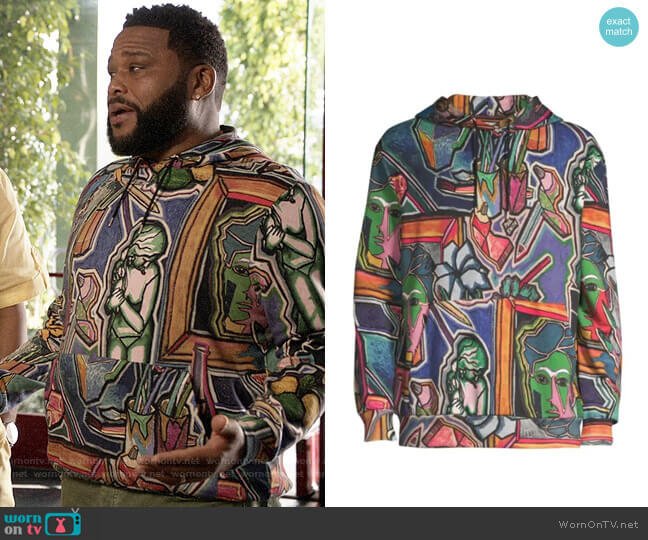 Paul Smith Artist Studio Print Hoodie worn by Andre Johnson (Anthony Anderson) on Blackish