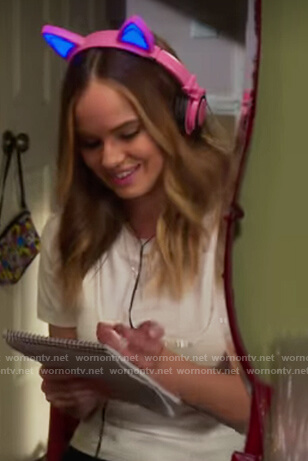 Patty's cat ear headphones on Insatiable