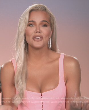 Khloe's pink corset top on Keeping Up with the Kardashians
