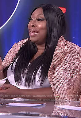 Loni's pink sequin blazer on The Real