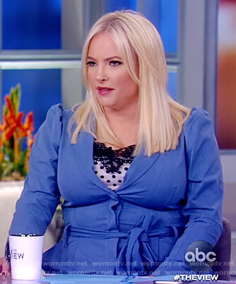 Meghan's blue tie waist jumpsuit on The View