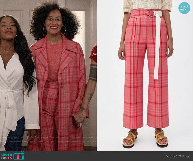 Rachel Comey Elio Plaid Pant worn by Rainbow Johnson (Tracee Ellis Ross) on Blackish