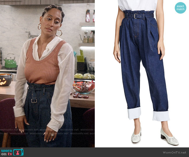 Rachel Comey Irolo Pants worn by Rainbow Johnson (Tracee Ellis Ross) on Blackish