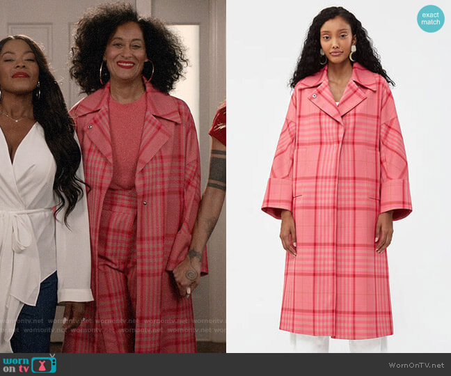 Rachel Comey Sassen Trench worn by Rainbow Johnson (Tracee Ellis Ross) on Blackish