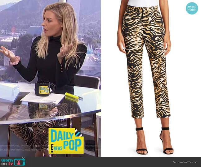 Tesoro Tiger Print Jeans by Rachel Comey worn by Morgan Stewart  on E! News