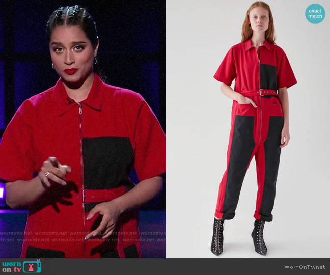 Rachel Comey Handy Jumpsuit worn by Lilly Singh  on A Little Late with Lilly Singh