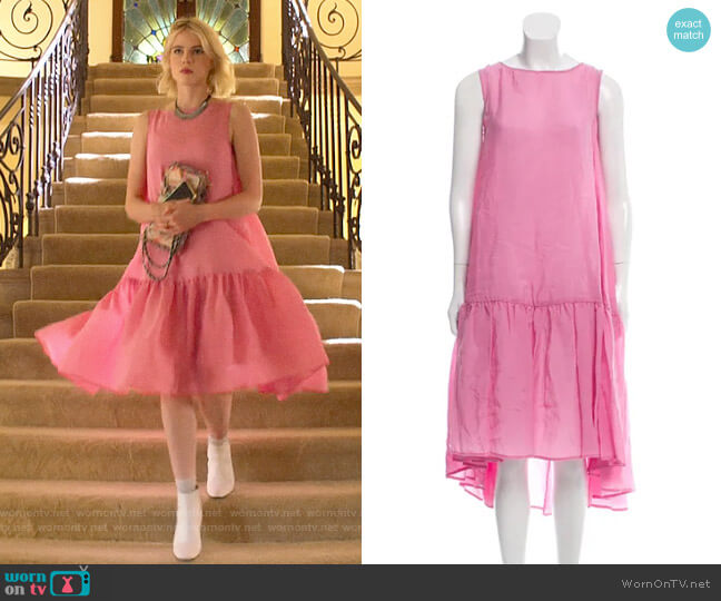 Rachel Comey Vance Midi Dress worn by Astrid (Lucy Boynton) on The Politician