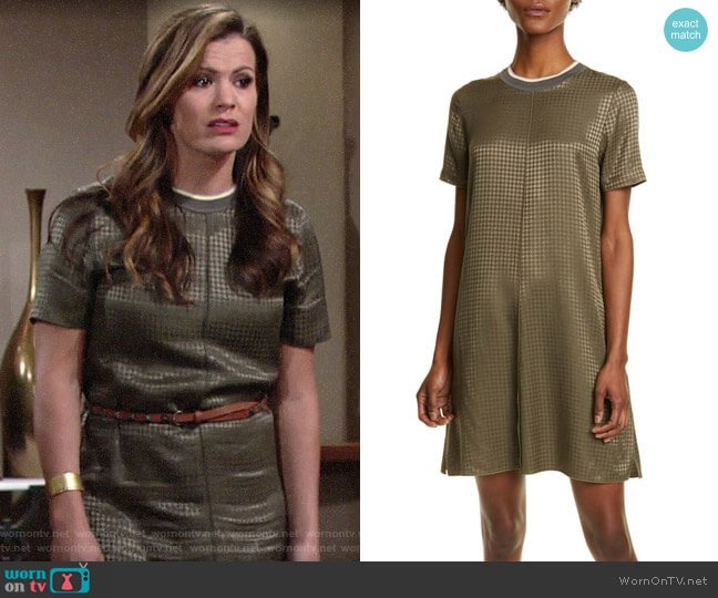 Rag & Bone Ali Houndstooth Shift Dress worn by Chelsea Lawson (Melissa Claire Egan) on The Young & the Restless