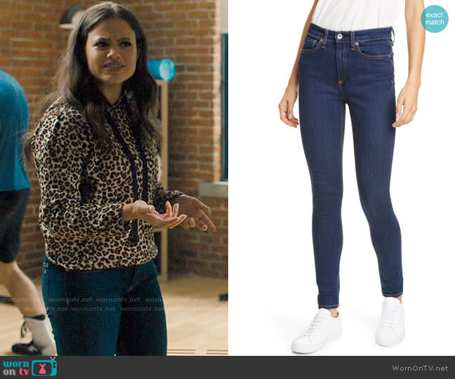 Rag & Bone Nina Jeans worn by Maggie Vera (Sarah Jeffery) on Charmed