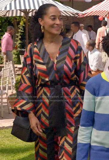 Rainbow's zig zag dress and jacket on Black-ish