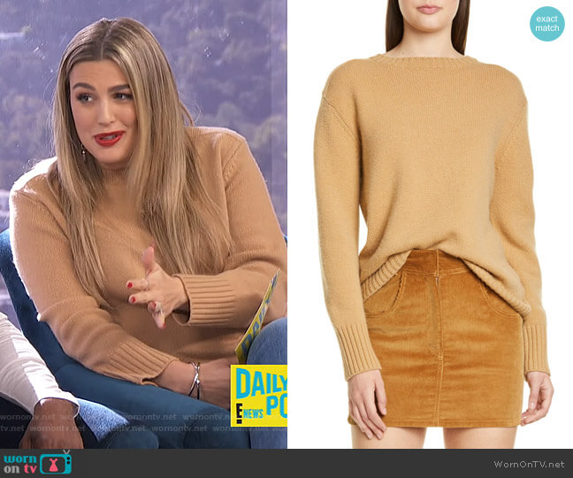 40s Crewneck Sweater by Re/Done worn by Carissa Loethen Culiner  on E! News