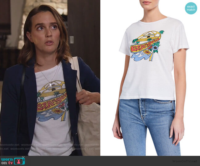 LAX Classic Tee by Re/Done worn by Angie (Leighton Meester) on Single Parents