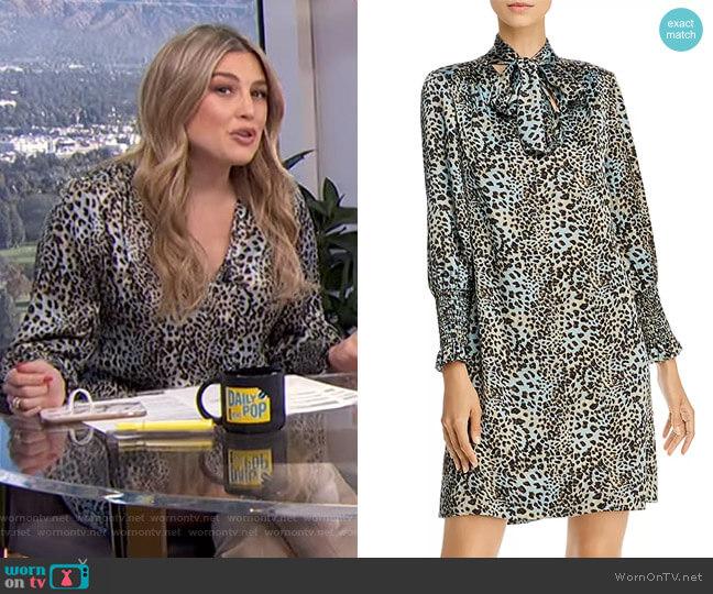Lynx Silk Shift Dress by Rebecca Taylor worn by Carissa Loethen Culiner  on E! News
