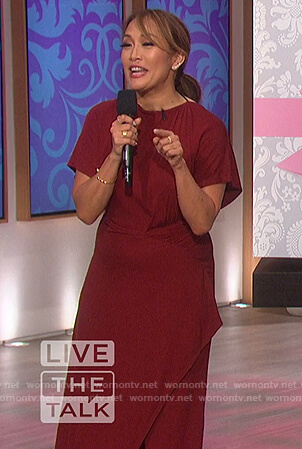 Carrie's red maxi dress on The Talk