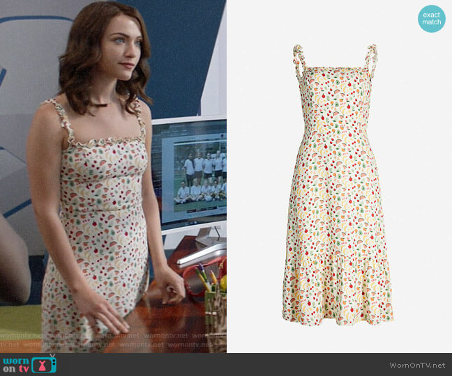 Reformation Granada Dress in Supermarket Sweep worn by Cara Bloom (Violett Beane) on God Friended Me