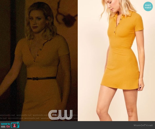 Reformation Wimbledon Dress worn by Betty Cooper (Lili Reinhart) on Riverdale