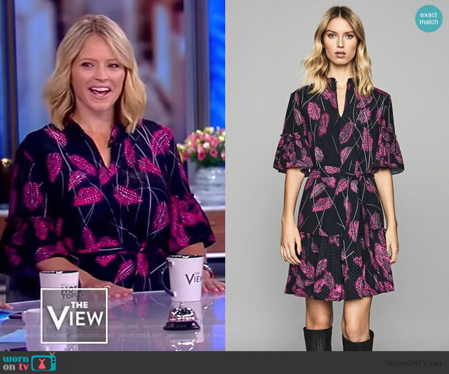 Marsali Dress by Reiss worn by Sara Haines  on The View