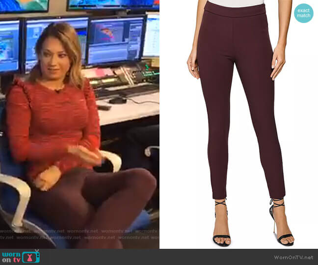 Tyne High Rise Skinny Pants by Reiss worn by Ginger Zee  on Good Morning America