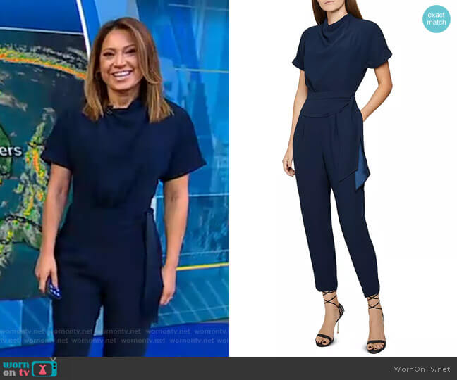 Silva Jumpsuit by Reiss worn by Ginger Zee  on Good Morning America