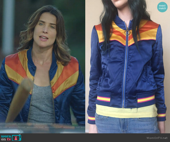 Rising Sun Jacket by Classic Rock Couture worn by Dex Parios (Cobie Smulders) on Stumptown