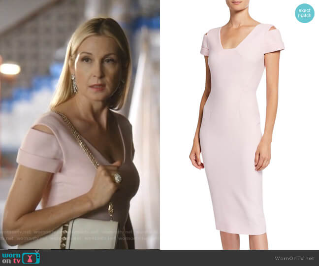 Minetta Cold-Shoulder Dress by Roland Mouret worn by Melissa Daniels (Kelly Rutherford) on Dynasty