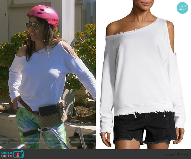 Willow One Shoulder Sweater by RTA worn by Kelly Dodd  on The Real Housewives of Orange County