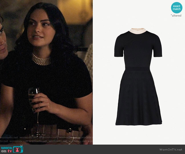 Sandro High Neck Dress worn by Veronica Lodge (Camila Mendes) on Riverdale