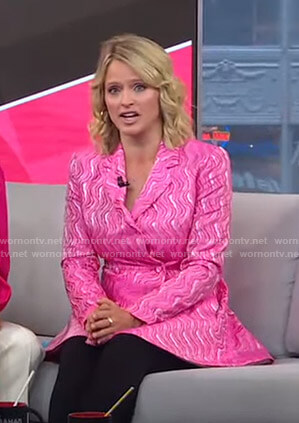 Sara's pink blazer dress on GMA Strahan Sara And Keke