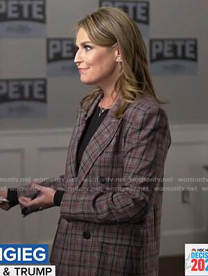 Savannah's grey plaid blazer on Today