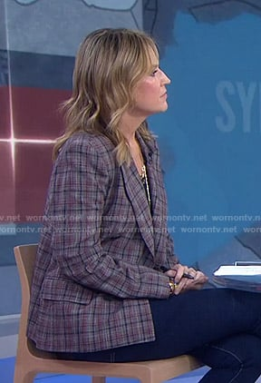 Savannah's grey plaid blazer on Today