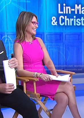 Savannah's pink sleeveless dress on Today