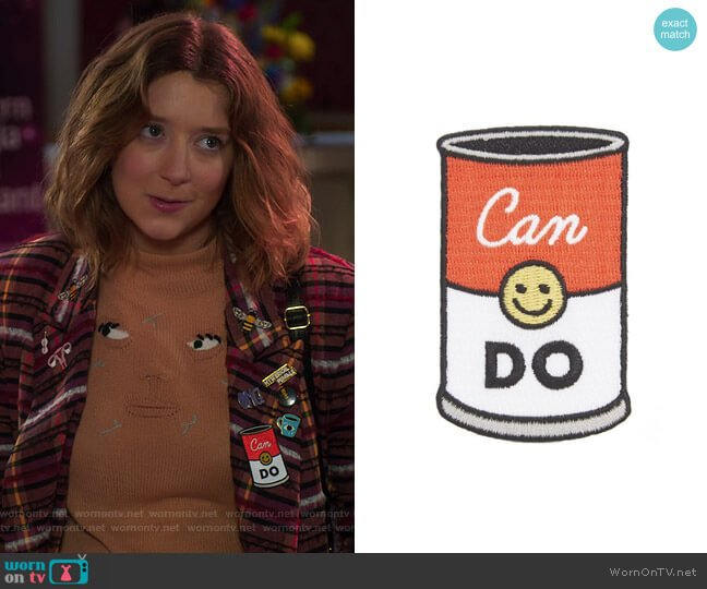 Can Do Iron-On Patch by Seltzer worn by Nonnie Thompson (Kimmy Shields) on Insatiable