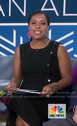 Sheinelle's black button detail dress on Today