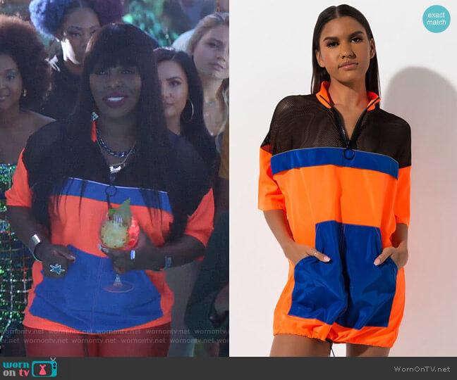 Color Block Mesh Cutout Mini Dress by Akira Label worn by Porsha Taylor (Ta'Rhonda Jones) on Empire