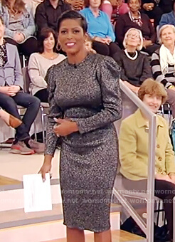 Tamron's silver metallic dress on Tamron Hall Show