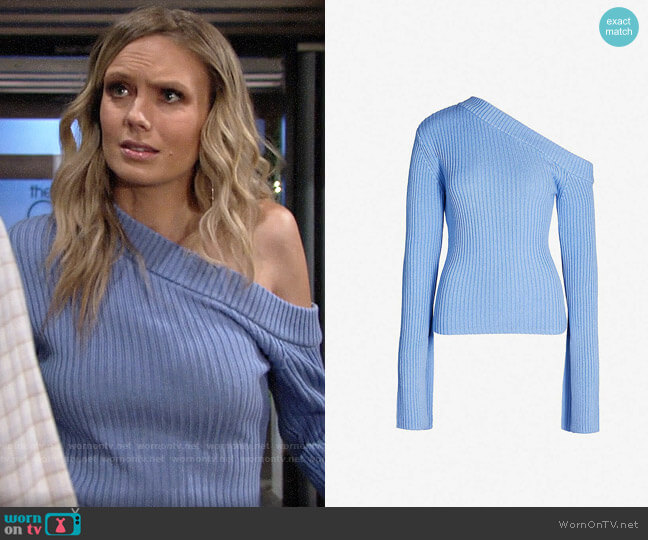 Solace London Varese Sweater worn by Abby Newman (Melissa Ordway) on The Young & the Restless