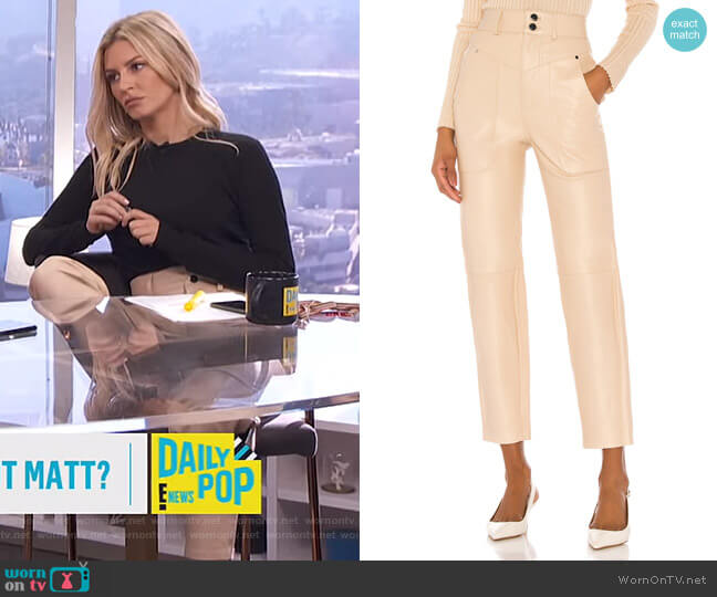 Seana Leather Pant by Song of Style worn by Morgan Stewart  on E! News