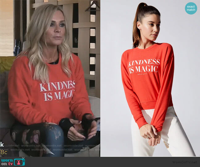 Kindness Malibu Crew Neck Sweater by Spiritual Gangster worn by Tamra Judge  on The Real Housewives of Orange County
